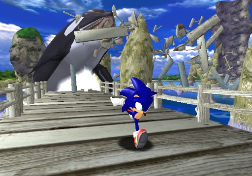 sonic adventure gameplay screen shot