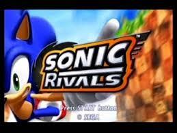 sonic rivals main menu