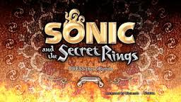 sonic and the secret rings main menu