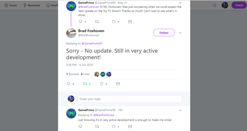 Brad Foxhoven on Twitter_ _Sorry - No update. Still in very active development!… _ - Google Chrome 6_9_2018 3_25_00 PM (2).png