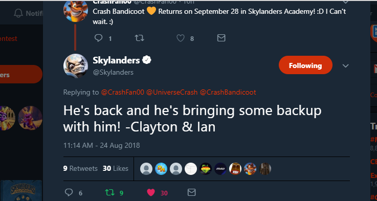 Skylanders on Twitter_ _He's back and he's bringing some backup with him! -Clayton & Ian… _ - Google Chrome 8_24_2018 11_41_33 PM (3)