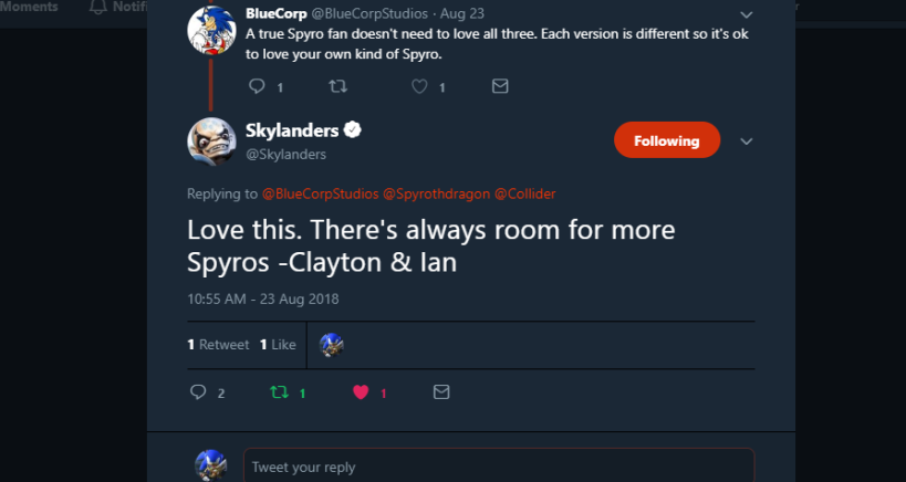 Skylanders on Twitter_ _Love this. There's always room for more Spyros -Clayton & Ian… _ - Google Chrome 8_27_2018 1_12_17 PM (2)