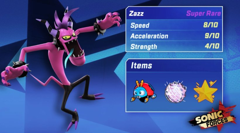 sonic forces speed battle zazz