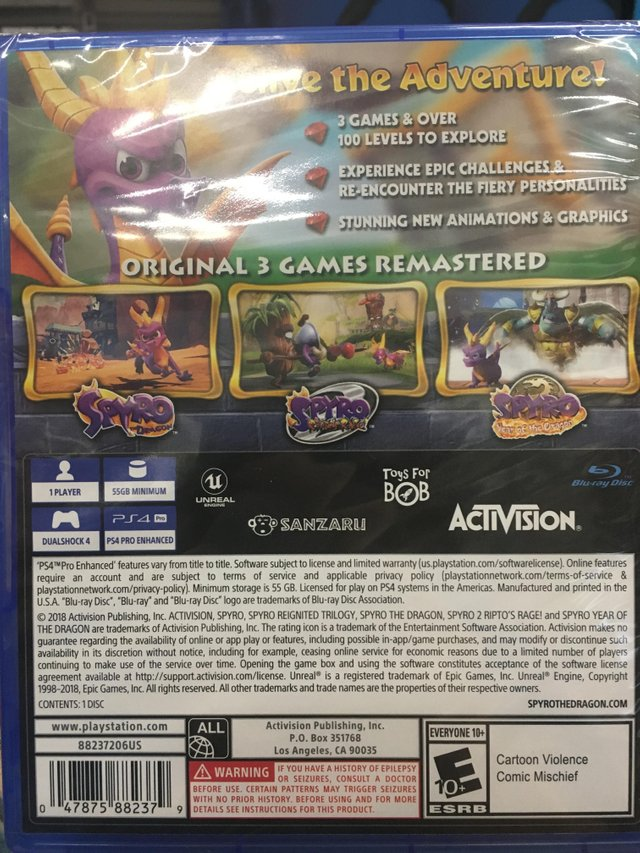 spyro reignited trilogy updated back cover