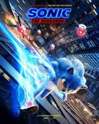 sonic movie new poster