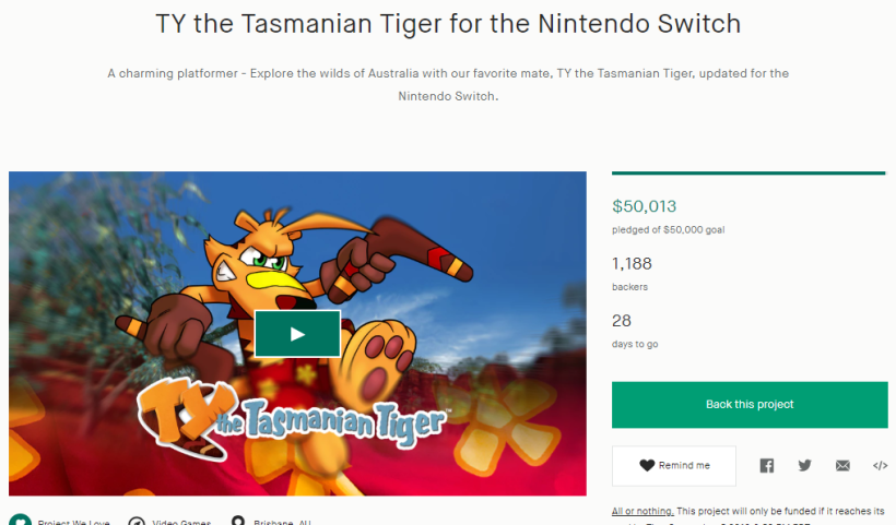 TY the Tasmanian Tiger for the Nintendo Switch by Krome Studios — Kickstarter - Google Chrome 8_8_2019 12_20_43 PM