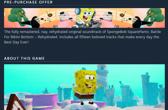 Save 10% on SpongeBob SquarePants_ Battle for Bikini Bottom - Rehydrated on Steam - Google Chrome 4_16_2020 10_06_20 PM